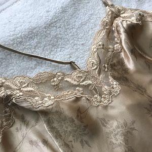 Gold floral Victoria Secret night gown